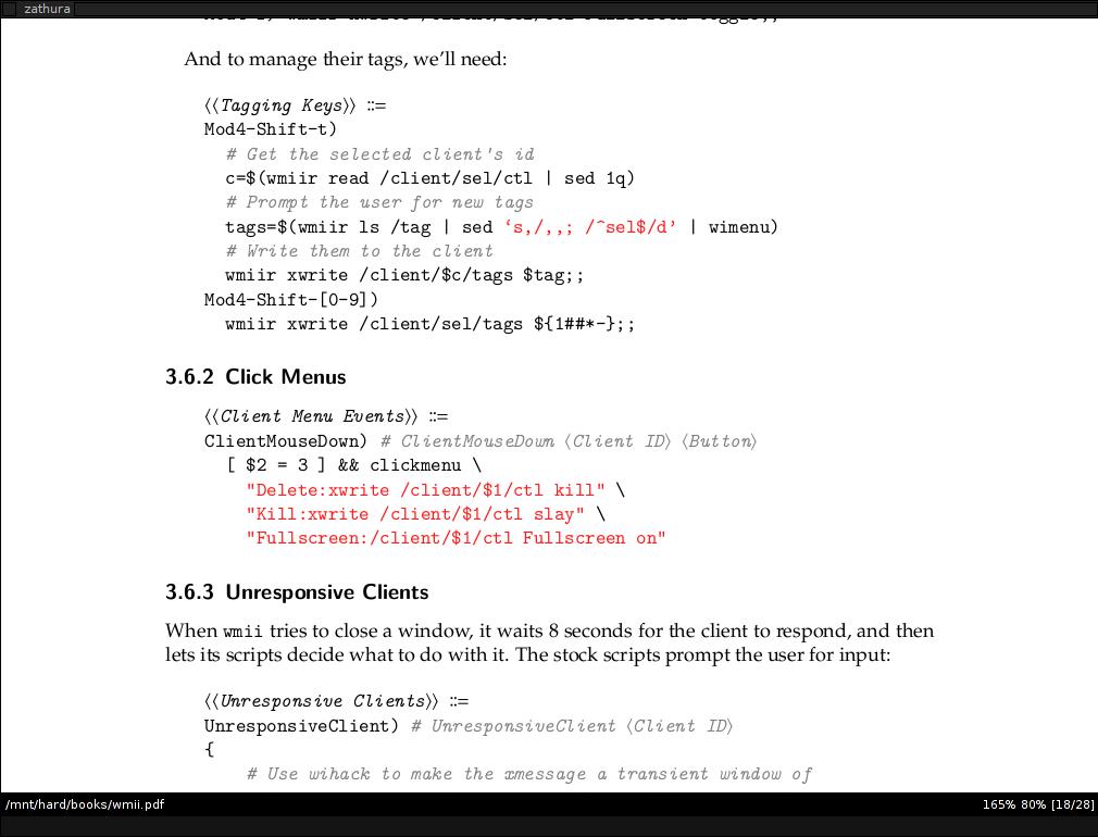 Программа для просмотра PDF файлов в Linux - Zathura