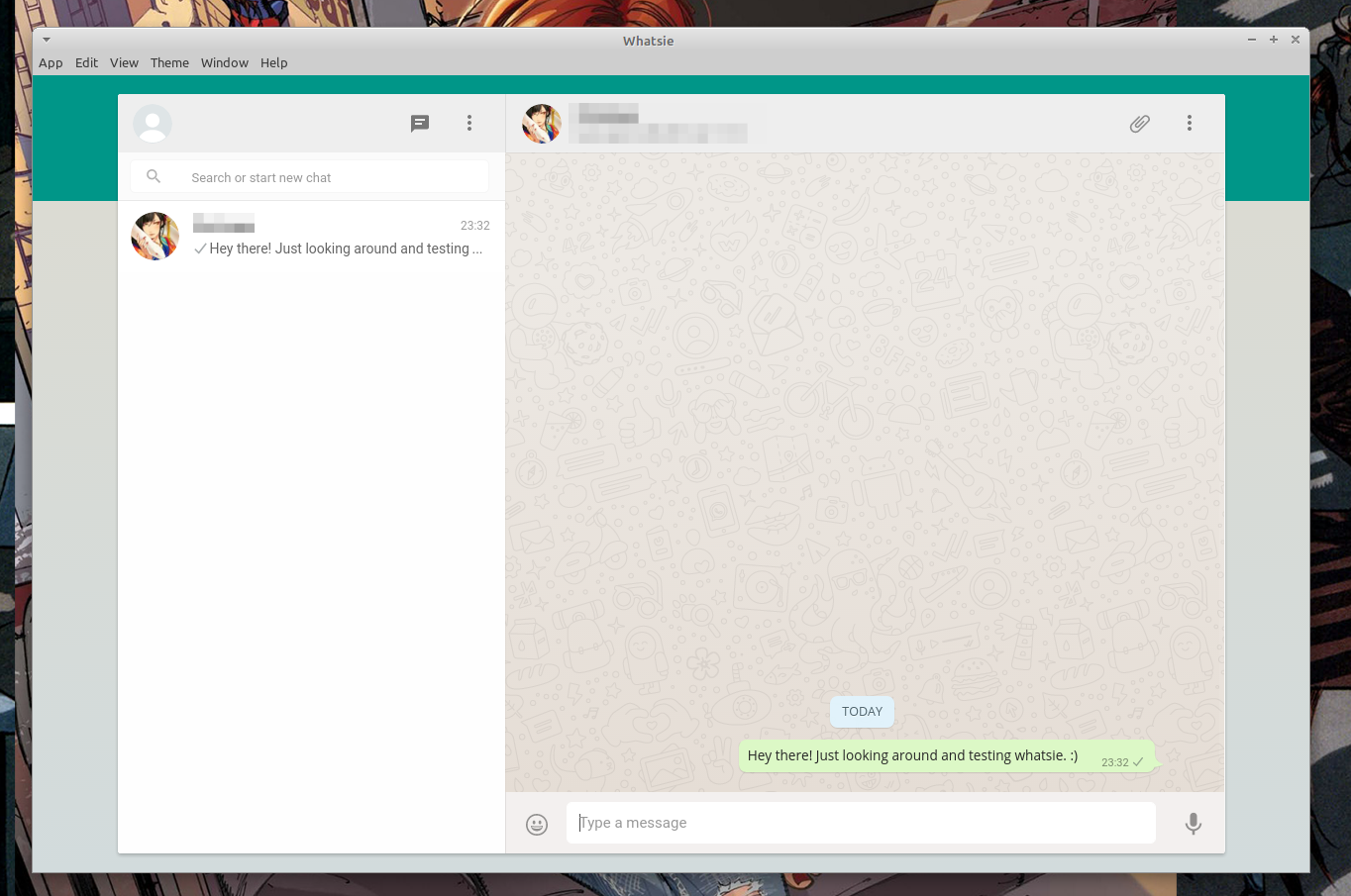 Whatsie - неофициальный десктопный клиент Whatsapp Messenger