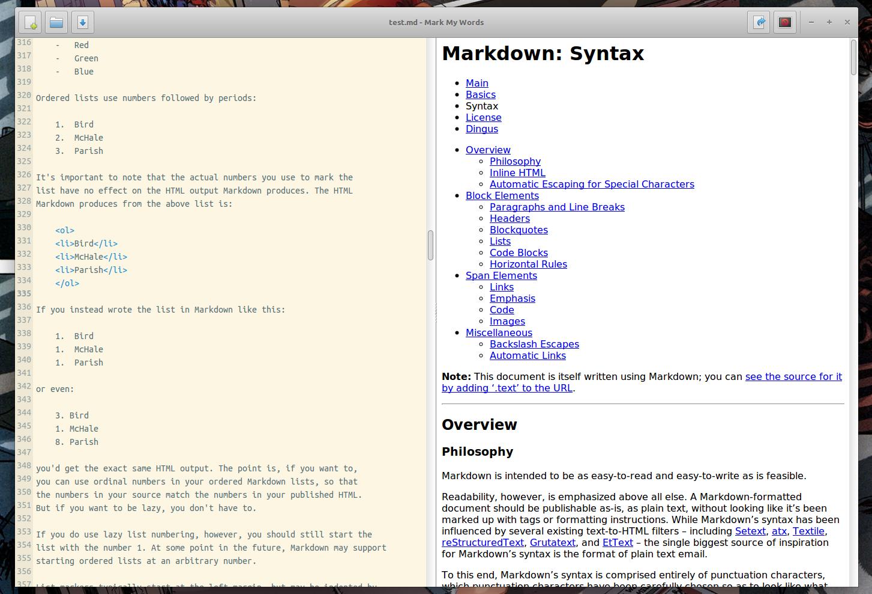 Mark My Words - минималистичный Markdown редактор