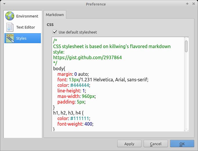 Mdcharm Markdown редактор - настройки стилей