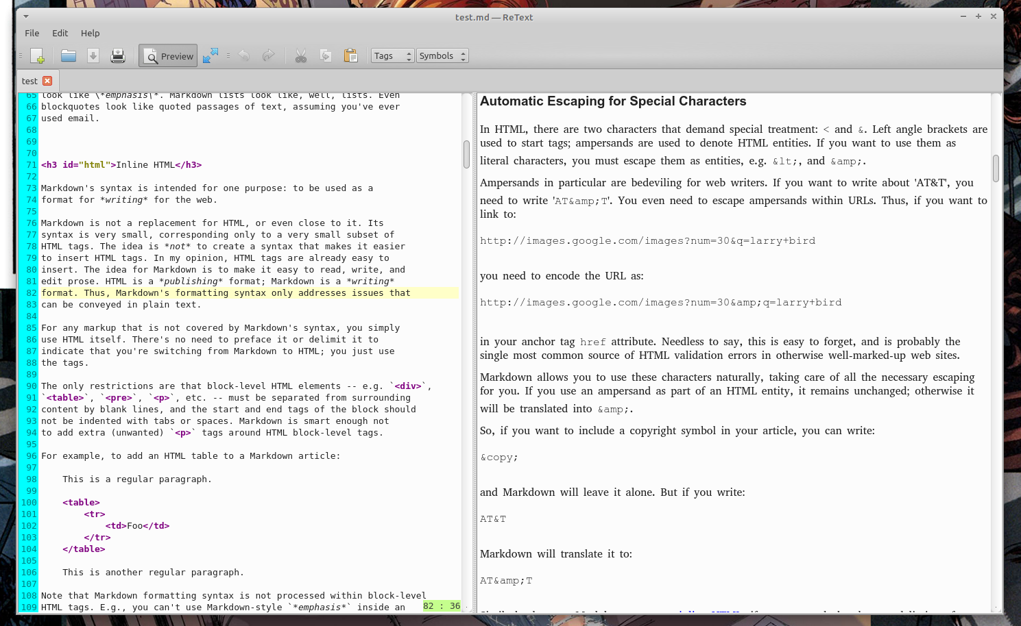 ReText - хороший Markdown редактор