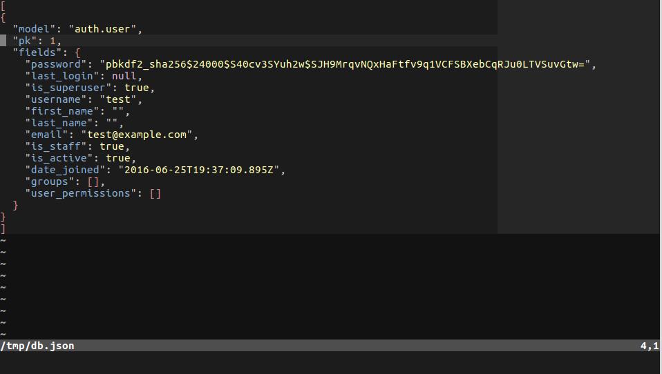 Django - результат выполнения команды dumpdata в формате json
